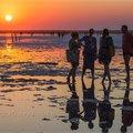 Закат на Розовом озере